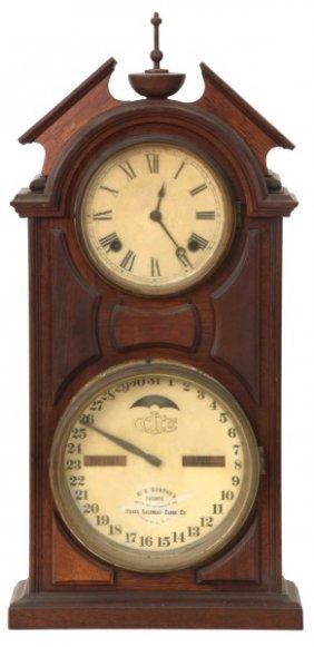 Ithaca No. 8 Library Calendar Clock