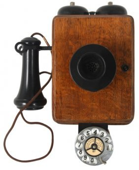 Oak Kellogg Wall Mounted Telephone