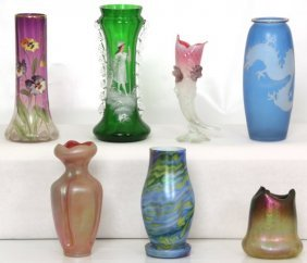 7 Pcs. Assorted Art Glass