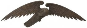 Large 19th C. Carved Wooden Eagle