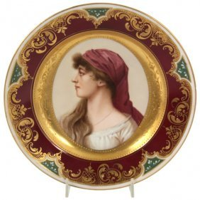 9.5 In. Royal Vienna Portrait Plate