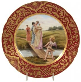 9.5 In. Royal Vienna Hand Painted Plate