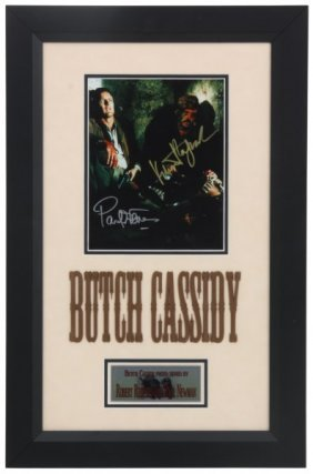 Framed And Signed Butch Cassidy Ephemera