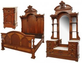 John Jeliff 3 Pc. Marble Top Bed Set