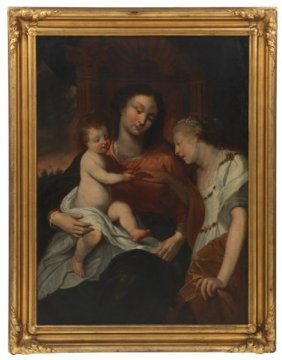 Oil On Canvas – Mystic Marriage Of St. Catherine
