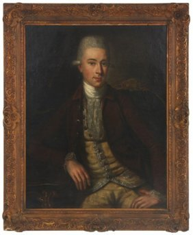 Attr: Allan Ramsay O/c Portrait Of William James