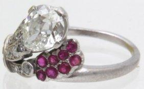 Palladium & Diamond Fashion Ring