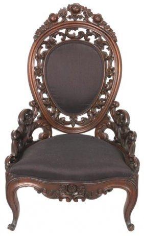Pierced Carved Henkel Parlor Chair