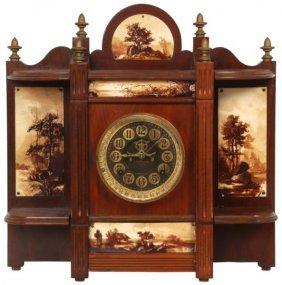 Ansonia Mahogany Mantle Clock – Alhambra