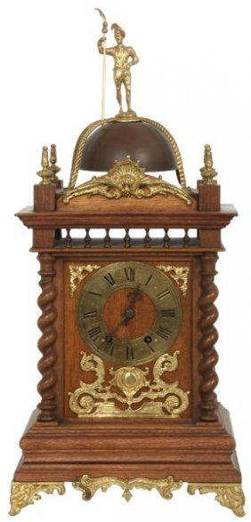 French Mahogany Bracket Clock