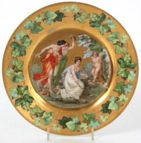 9.5 In. Erdmann Schlegelmilch Porcelain Plate