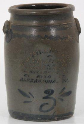 E.j. Miller & Co. Va. 3 Gallon Crock