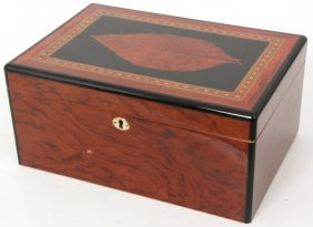 Inlaid Top Humidor Box