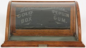 Curved Pepsin Gum Counter Top Display Case