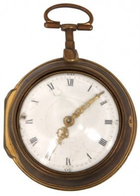 English Verge Fusee Double Cased Pocket Watch
