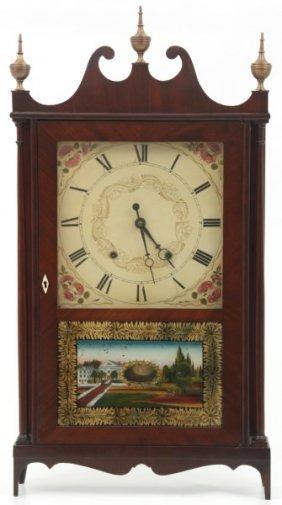 Samuel Terry Pillar & Scroll Mantle Clock