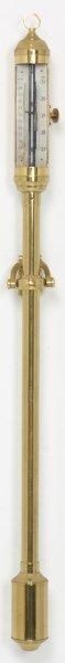 Gimballed Brass Stick Barometer