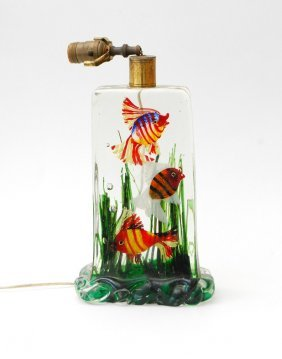 Large Aquarium Lamp By Alfredo Barbini