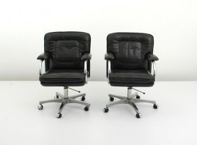 Pair Of Mariani Leather Desk Chairs