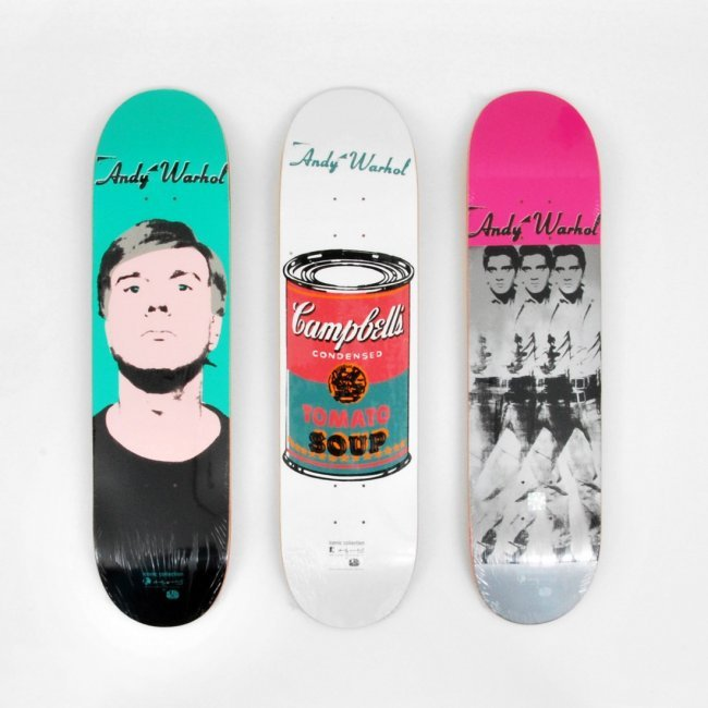 Skateboard Decks By Andy Warhol After Set Of 3 Lot 216