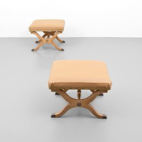 Pair Of Espana Stools, Manner Of Dorothy Draper