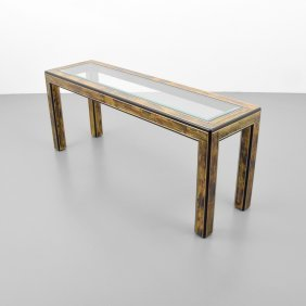 Bernhard Rohne Etched Console Table