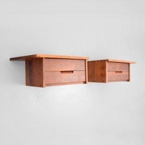 Pair Of George Nakashima Wall Mounted Cabinets