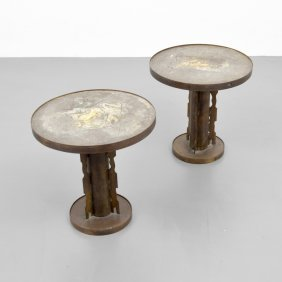 Pair Of Philip & Kelvin Laverne Occasional Tables