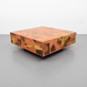 Large Patchwork Coffee Table, Manner Of Paul Evans