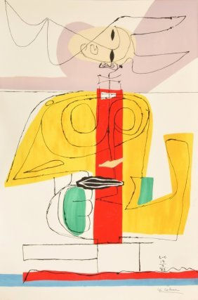 Large Le Corbusier Lithograph, Limited Edition