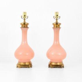 Pair Of Cenedese Lamps, Murano