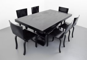Gene Vidal Dining Table & 6 Chairs
