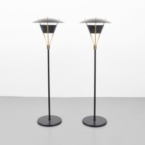 Pair Of Gerald Thurston Floor Lamps