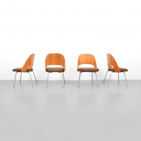 Early Eero Saarinen Dining Chairs, Set Of 4