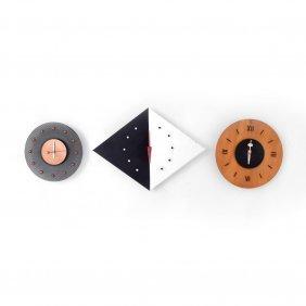 3 George Nelson & Associates Clocks
