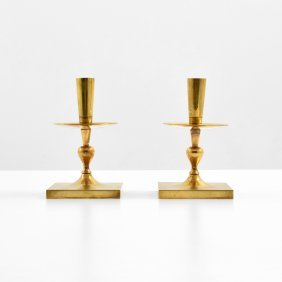 Pair Of Tommi Parzinger Candlesticks