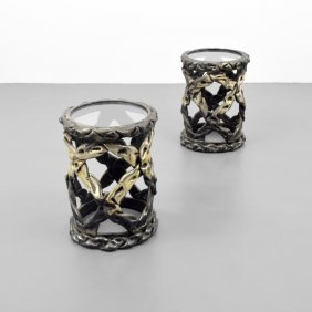 Pair Of Taffy Tables, Manner Of Tony Duquette