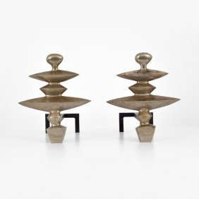 Diego Giacometti (after) Andirons, Limited Edition
