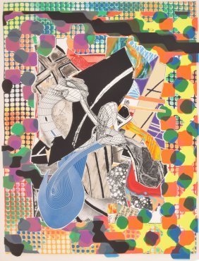 Large Frank Stella Lithograph, Signed Limited Edition