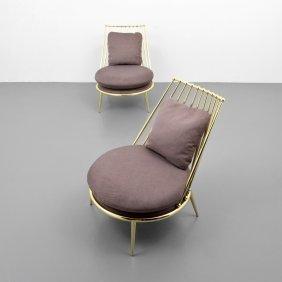 Pair Of Cantori Slipper Chairs