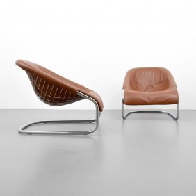Pair Of Gordon Guillaumier Cortina Leather Lounges