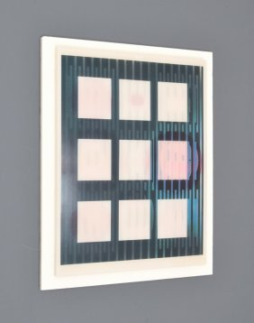 Yaacov Agam Agamograph, Signed 1st Artist Proof