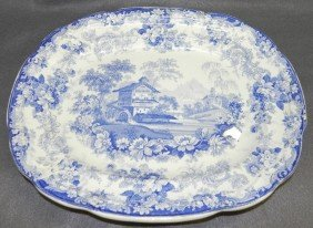 "Early English Platter In ""Genovese"" Pattern."