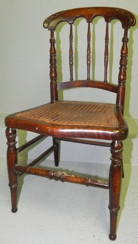 Child's Victorian Cane Seat Chair.