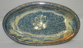 "Stoneware Platter (18"" X 10 1/2"")"