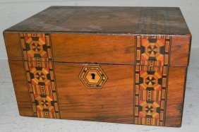Inlaid Mahogany Dresser Box.