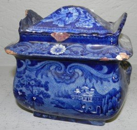 Historical American Blue Sugar Dish