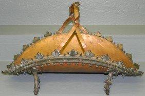French Cast Brass & Copper Log Holder