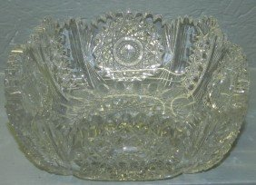 Hawkes Signed Cut Glass Bowl.