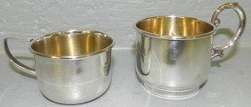 2 Sterling Baby Cups.